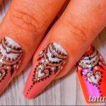 Фото Мехенди на ногтях от 04.08.2018 №141 - Mehendi on the nails - tatufoto.com