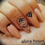 Фото Мехенди на ногтях от 04.08.2018 №148 - Mehendi on the nails - tatufoto.com