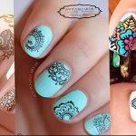 Фото Мехенди на ногтях от 04.08.2018 №156 - Mehendi on the nails - tatufoto.com