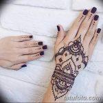 Фото Мехенди на ногтях от 04.08.2018 №161 - Mehendi on the nails - tatufoto.com