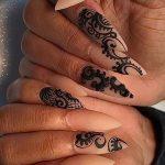 Фото Мехенди на ногтях от 04.08.2018 №197 - Mehendi on the nails - tatufoto.com