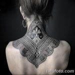 Фото Мехенди на шее от 02.08.2018 №011 - Mehendi on the neck - tatufoto.com