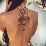 Фото Мехенди на шее от 02.08.2018 №014 - Mehendi on the neck - tatufoto.com