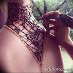Фото Мехенди на шее от 02.08.2018 №029 - Mehendi on the neck - tatufoto.com
