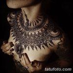 Фото Мехенди на шее от 02.08.2018 №030 - Mehendi on the neck - tatufoto.com