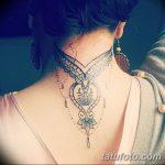 Фото Мехенди на шее от 02.08.2018 №058 - Mehendi on the neck - tatufoto.com