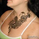 Фото Мехенди на шее от 02.08.2018 №066 - Mehendi on the neck - tatufoto.com