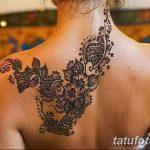 Фото Мехенди на шее от 02.08.2018 №067 - Mehendi on the neck - tatufoto.com