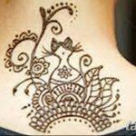 Фото Мехенди на шее от 02.08.2018 №096 - Mehendi on the neck - tatufoto.com