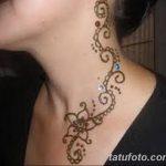 Фото Мехенди на шее от 02.08.2018 №100 - Mehendi on the neck - tatufoto.com