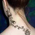 Фото Мехенди на шее от 02.08.2018 №102 - Mehendi on the neck - tatufoto.com