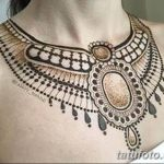 Фото Мехенди на шее от 02.08.2018 №111 - Mehendi on the neck - tatufoto.com