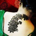 Фото Мехенди на шее от 02.08.2018 №119 - Mehendi on the neck - tatufoto.com