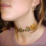 Фото Мехенди на шее от 02.08.2018 №130 - Mehendi on the neck - tatufoto.com