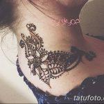 Фото Мехенди на шее от 02.08.2018 №150 - Mehendi on the neck - tatufoto.com