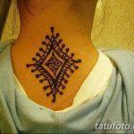 Фото Мехенди на шее от 02.08.2018 №157 - Mehendi on the neck - tatufoto.com