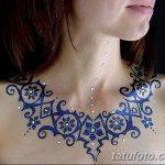 Фото Мехенди на шее от 02.08.2018 №158 - Mehendi on the neck - tatufoto.com