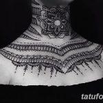 Фото Мехенди на шее от 02.08.2018 №159 - Mehendi on the neck - tatufoto.com