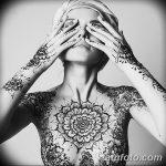 Фото Мехенди на шее от 02.08.2018 №162 - Mehendi on the neck - tatufoto.com