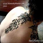 Фото Мехенди на шее от 02.08.2018 №168 - Mehendi on the neck - tatufoto.com