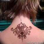 Фото Мехенди на шее от 02.08.2018 №169 - Mehendi on the neck - tatufoto.com