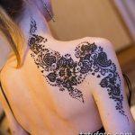 Фото Мехенди на шее от 02.08.2018 №171 - Mehendi on the neck - tatufoto.com