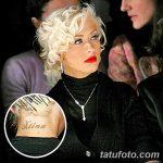 Фото Тату Кристины Агилеры от 02.08.2018 №017 - Tattoo of Christina Aguiler - tatufoto.com