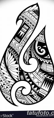 Maori style tattoo. Aboriginal fish hook symbol