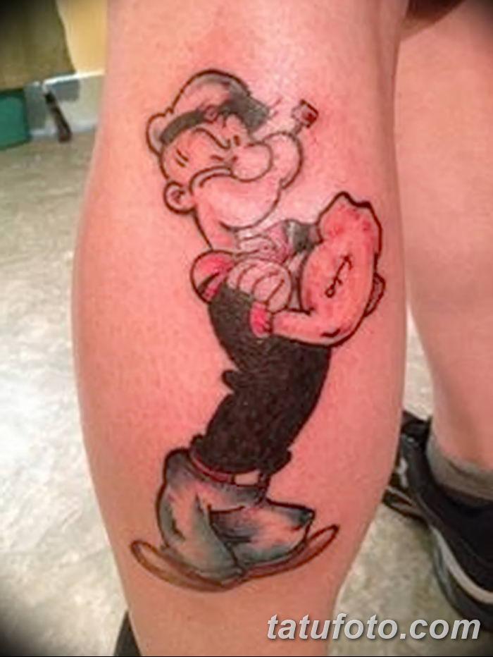 Фото рисунок Тату моряк Папай от 10.08.2018 №009 - Tattoos sailor Papay - tatufoto.com