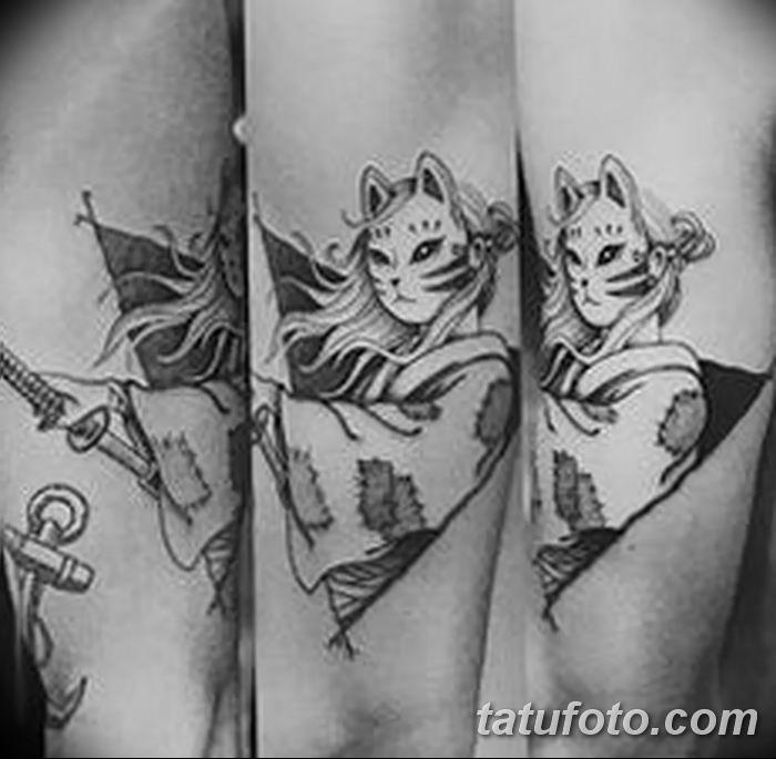 Фото рисунок тату Кицунэ от 10.08.2018 №003 - drawing of tattoo Kitsune - tatufoto.com