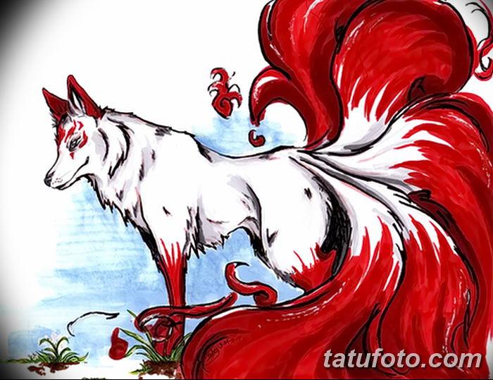 Фото рисунок тату Кицунэ от 10.08.2018 №006 - drawing of tattoo Kitsune - tatufoto.com