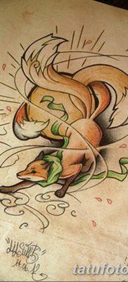 Фото рисунок тату Кицунэ от 10.08.2018 №008 – drawing of tattoo Kitsune – tatufoto.com