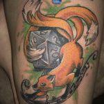 Фото рисунок тату Кицунэ от 10.08.2018 №009 - drawing of tattoo Kitsune - tatufoto.com