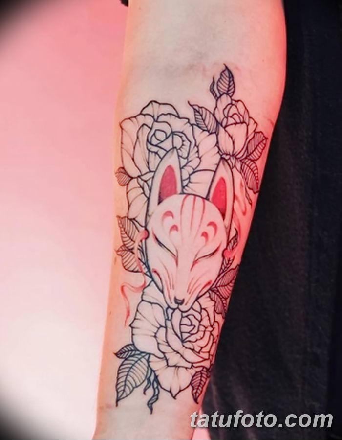 Фото рисунок тату Кицунэ от 10.08.2018 №011 - drawing of tattoo Kitsune - tatufoto.com