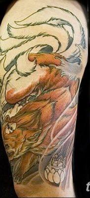 Фото рисунок тату Кицунэ от 10.08.2018 №014 – drawing of tattoo Kitsune – tatufoto.com