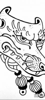 Фото рисунок тату Кицунэ от 10.08.2018 №017 – drawing of tattoo Kitsune – tatufoto.com