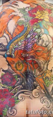 Фото рисунок тату Кицунэ от 10.08.2018 №023 – drawing of tattoo Kitsune – tatufoto.com