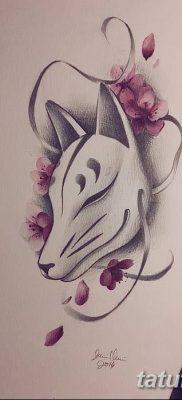 Фото рисунок тату Кицунэ от 10.08.2018 №024 – drawing of tattoo Kitsune – tatufoto.com