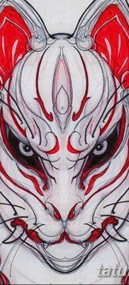 Фото рисунок тату Кицунэ от 10.08.2018 №028 – drawing of tattoo Kitsune – tatufoto.com