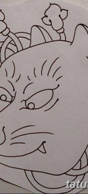 Фото рисунок тату Кицунэ от 10.08.2018 №029 – drawing of tattoo Kitsune – tatufoto.com