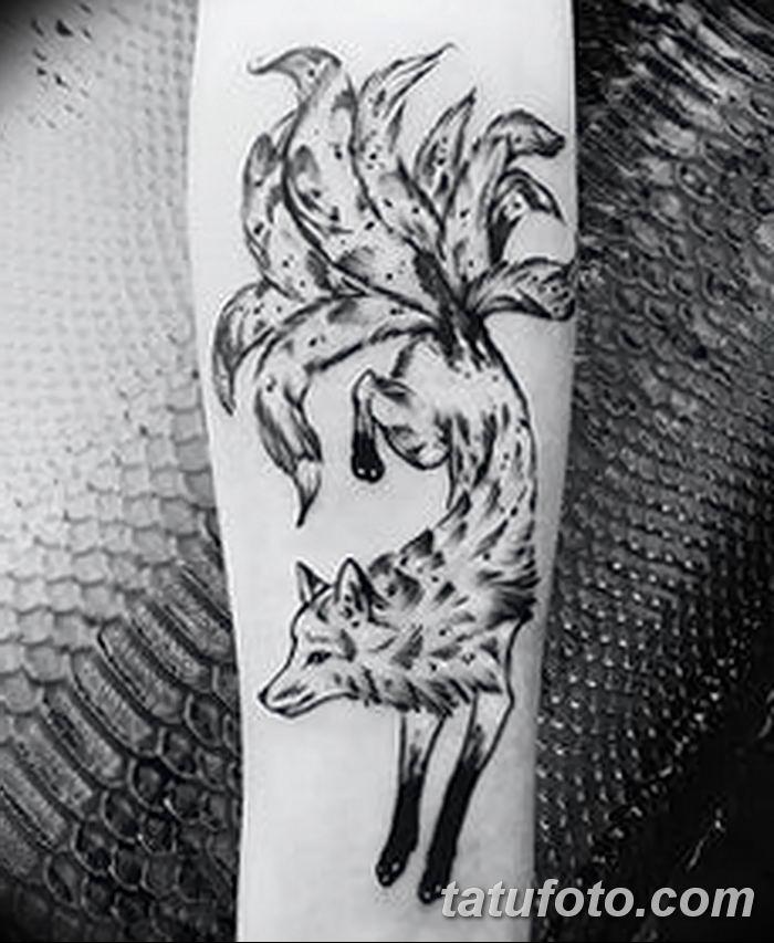 Фото рисунок тату Кицунэ от 10.08.2018 №034 - drawing of tattoo Kitsune - tatufoto.com
