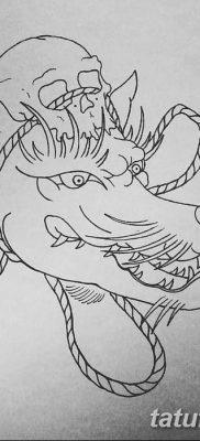 Фото рисунок тату Кицунэ от 10.08.2018 №037 – drawing of tattoo Kitsune – tatufoto.com