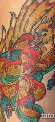 Фото рисунок тату Кицунэ от 10.08.2018 №043 – drawing of tattoo Kitsune – tatufoto.com
