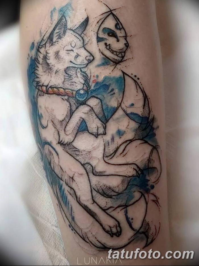 Фото рисунок тату Кицунэ от 10.08.2018 №046 - drawing of tattoo Kitsune - tatufoto.com