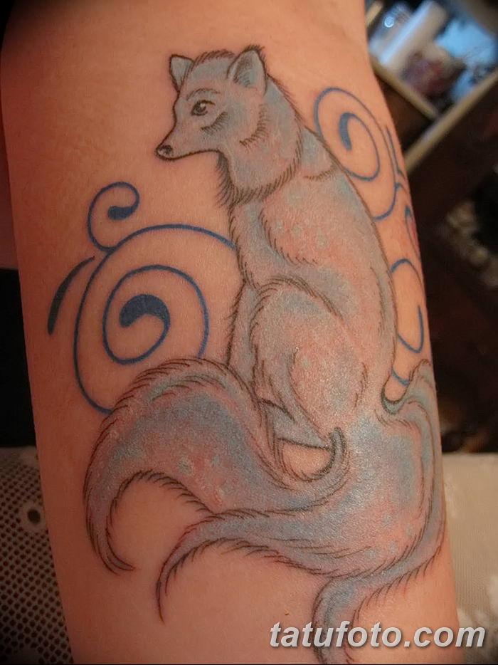 Фото рисунок тату Кицунэ от 10.08.2018 №072 - drawing of tattoo Kitsune - tatufoto.com