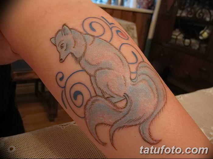 Фото рисунок тату Кицунэ от 10.08.2018 №073 - drawing of tattoo Kitsune - tatufoto.com
