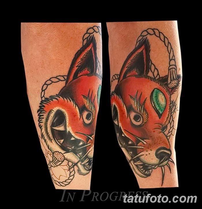 Фото рисунок тату Кицунэ от 10.08.2018 №086 - drawing of tattoo Kitsune - tatufoto.com
