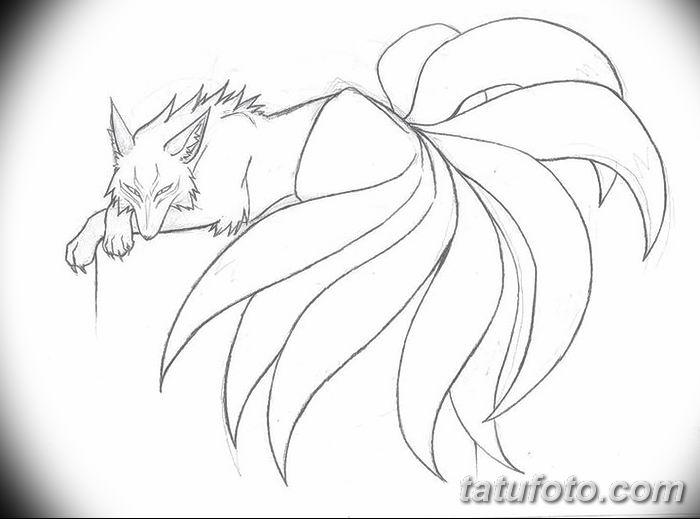 Фото рисунок тату Кицунэ от 10.08.2018 №088 - drawing of tattoo Kitsune - tatufoto.com