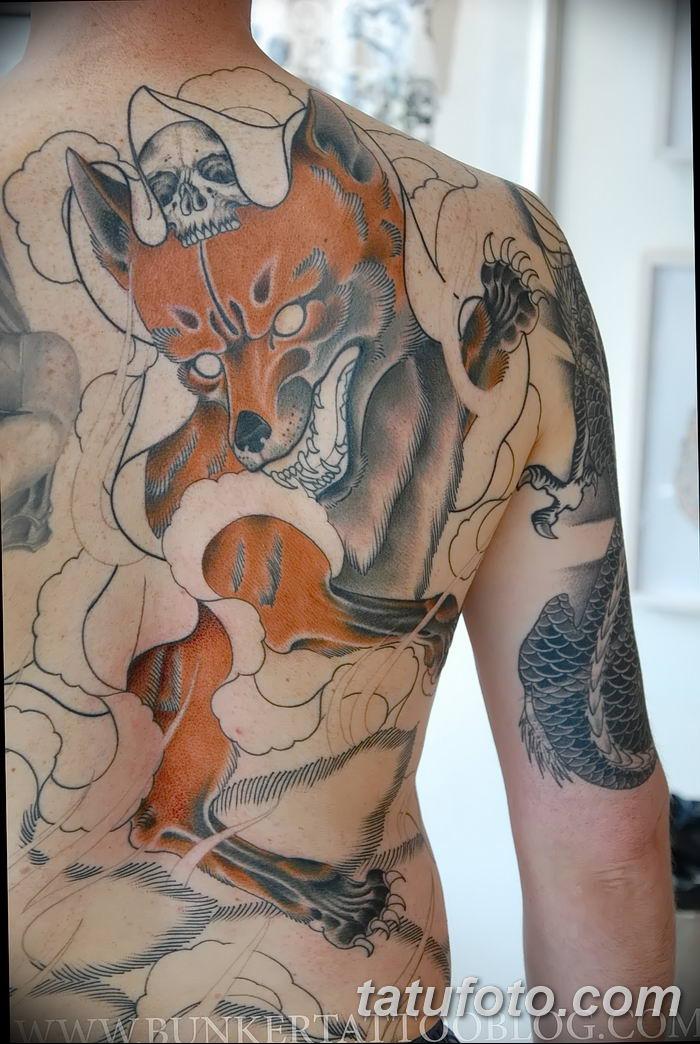 Фото рисунок тату Кицунэ от 10.08.2018 №100 - drawing of tattoo Kitsune - tatufoto.com