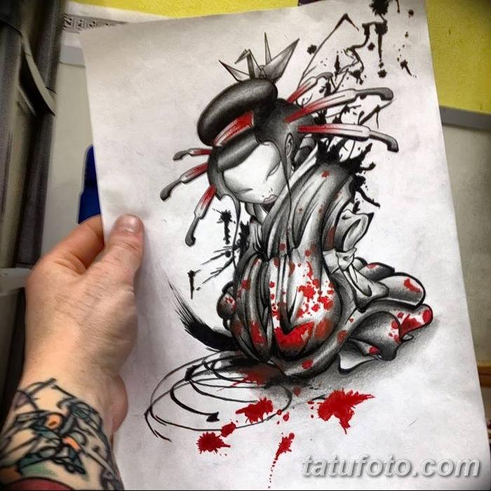 Фото рисунок тату Кицунэ от 10.08.2018 №107 - drawing of tattoo Kitsune - tatufoto.com